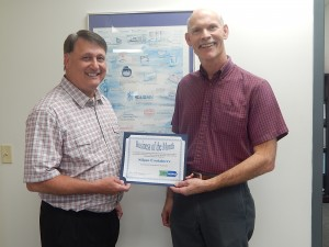 Human Resources Manager, Rick Murphy (left) and Tom Kaczynski, Plant Manager at Silgan in Lyons receiving the award.