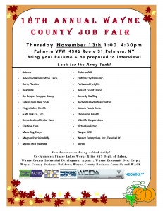 2014 Wayne County Job Fair Flyer