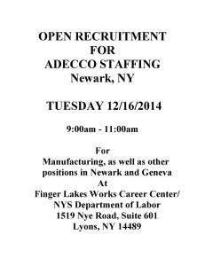 Adecco open recruitment